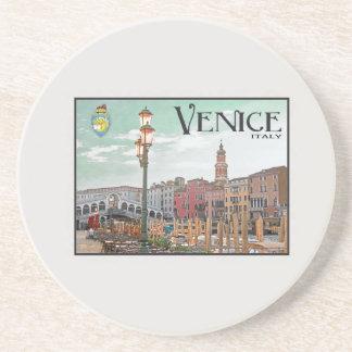 Venice - Grand Canal and Rialto Bridge Beverage Coaster