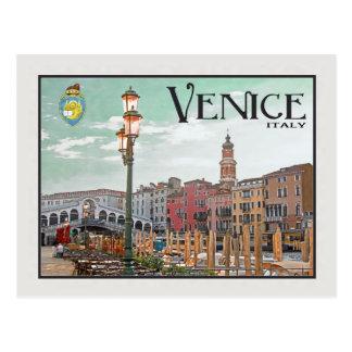 Venice - Grand Canal and Rialto Bridge Post Card