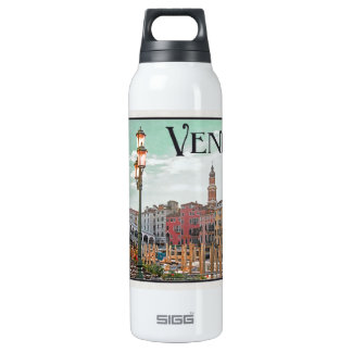Venice - Grand Canal and Rialto Bridge 16 Oz Insulated SIGG Thermos Water Bottle