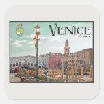 Venice - Grand Canal and Rialto Bridge Square Sticker