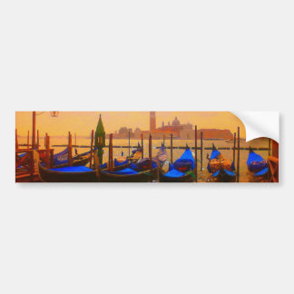 Venice Grand Canal & Gondolas Italy Travel Artwork Bumper Sticker