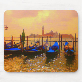 Venice Grand Canal & Gondolas Italy Travel Artwork Mouse Pad
