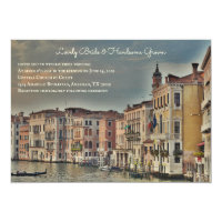 Venice Grand Canal Wedding Invitation
