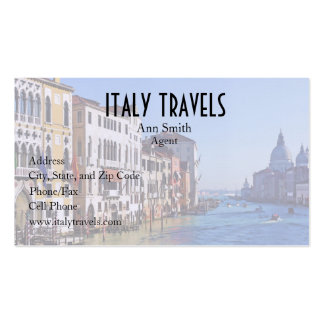 Venice Grand Canal with Love Quote Business Card