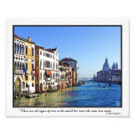 Venice Grand Canal with Love Quote Photographic Print