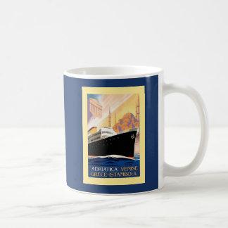 Venice Greece Istanbul shipping line retro vintage Coffee Mug