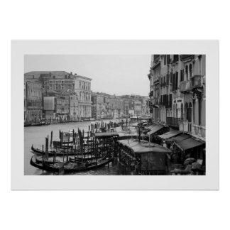 Venice in B&W Posters
