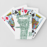 Venice in green ink bicycle playing cards