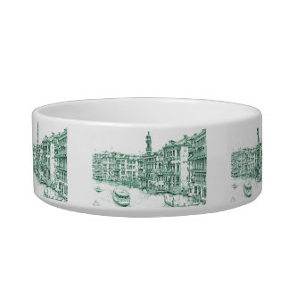 Venice in green ink bowl