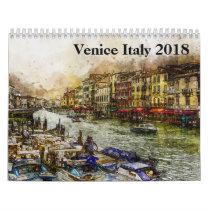 Venice Italy 2018 Calendar