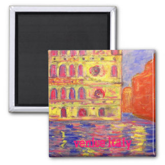venice italy 2 inch square magnet