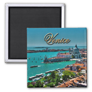 Venice, Italy - Aerial View 2 Inch Square Magnet