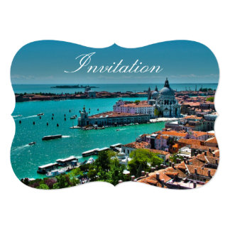 Venice, Italy - Aerial View 5x7 Paper Invitation Card
