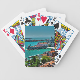 Venice, Italy - Aerial View Bicycle Playing Cards