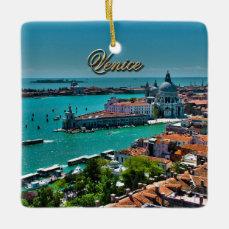Venice, Italy - Aerial View Ceramic Ornament