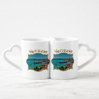 Venice, Italy - Aerial View Coffee Mug Set
