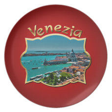 Venice, Italy - Aerial View Dinner Plate