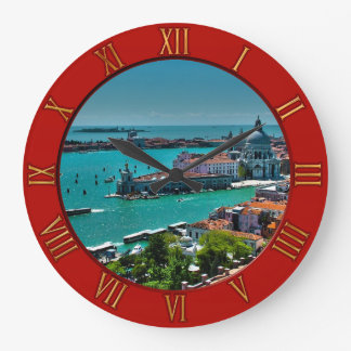 Venice, Italy - Aerial View Large Clock