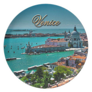Venice, Italy - Aerial View Party Plate