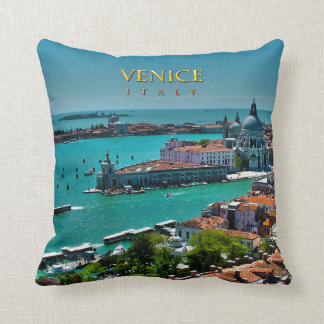 Venice, Italy - Aerial View Throw Pillow