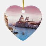Venice-(Italy)-Angie.JPG Double-Sided Heart Ceramic Christmas Ornament