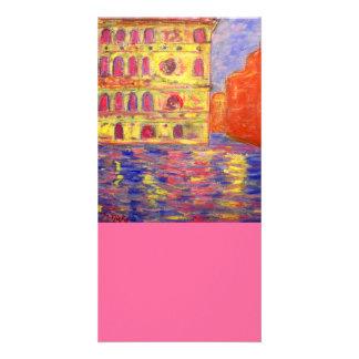 venice italy art card