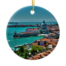 Venice, Italy - Bird's Eye View Ceramic Ornament