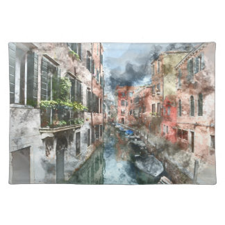 Venice Italy Boats in the Canal Placemat
