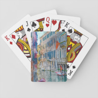 Venice Italy Boats in the Grand Canal Playing Cards