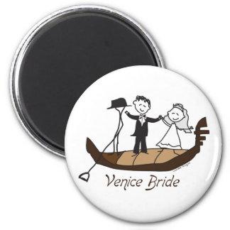 Venice Italy Bride 2 Inch Round Magnet