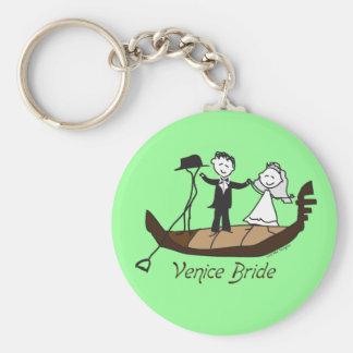 Venice Italy Bride Keychain