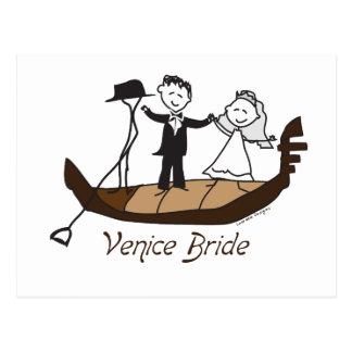 Venice Italy Bride Postcards