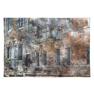 Venice Italy Buildings Cloth Placemat