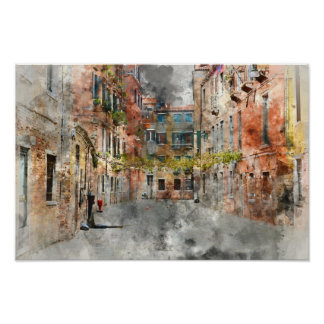 Venice Italy Buildings Poster