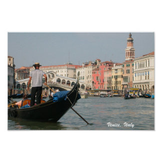 Venice, Italy Canal Gondola Print