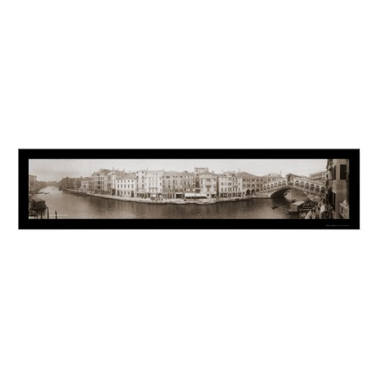 Venice Italy Canal Photo 1909 Poster