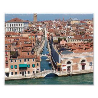 Venice Italy, Canals, Bridges, Boats Photo Print