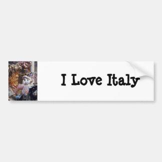 Venice Italy Carnival Mask ~ Italian Festival Car Bumper Sticker