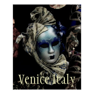 Venice Italy Carnival Mask Poster