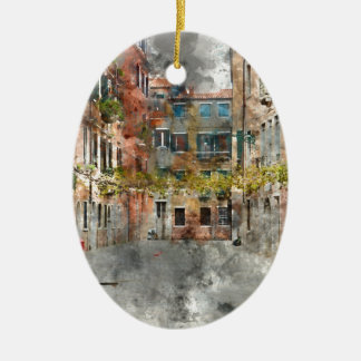 Venice Italy Colorful Buildings and Canals Ceramic Ornament