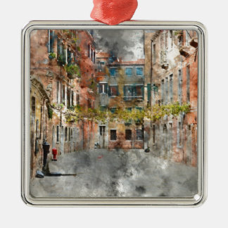 Venice Italy Colorful Buildings and Canals Metal Ornament