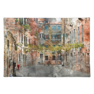 Venice Italy Colorful Buildings and Canals Placemat