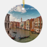 Venice, Italy Double-Sided Ceramic Round Christmas Ornament