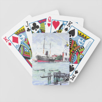 Venice Italy Excursion Pier 1901 Bicycle Playing Cards