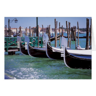 Venice Italy Gondola Boats ~ Italian Romance Card