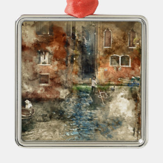 Venice Italy Gondola in the Canals Metal Ornament