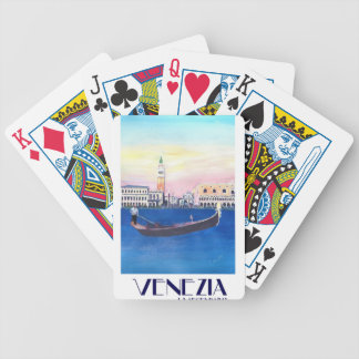 Venice Italy Gondola on Grand Canal with San Marco Bicycle Playing Cards