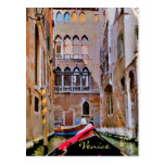 Venice Italy Gondola Postcard