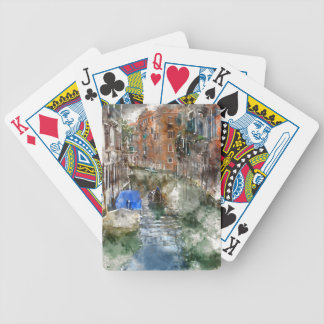 Venice Italy Gondolas and Colorful Buildings Bicycle Playing Cards