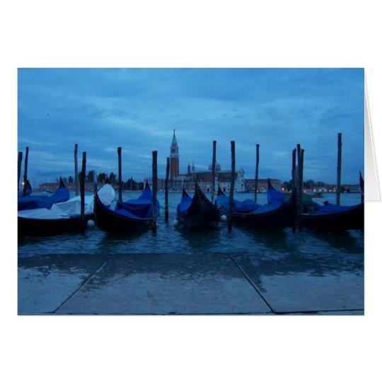 Venice Italy Gondolas Card